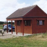 The fishing cabin where hampers are served is only a short walk from the river bank