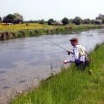 Norwegian journalist Morten Harangen enjoys a days fishing