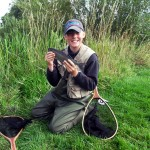 Young Joshua (13) with a grayling